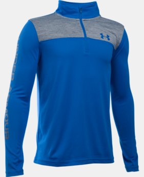 Boys' UA Tech™ ¼ Zip LIMITED TIME: FREE SHIPPING 2 Colors $29.99 to $39.99