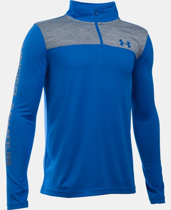 Boys' UA Tech™ ¼ Zip LIMITED TIME: FREE SHIPPING 1 Color $29.99