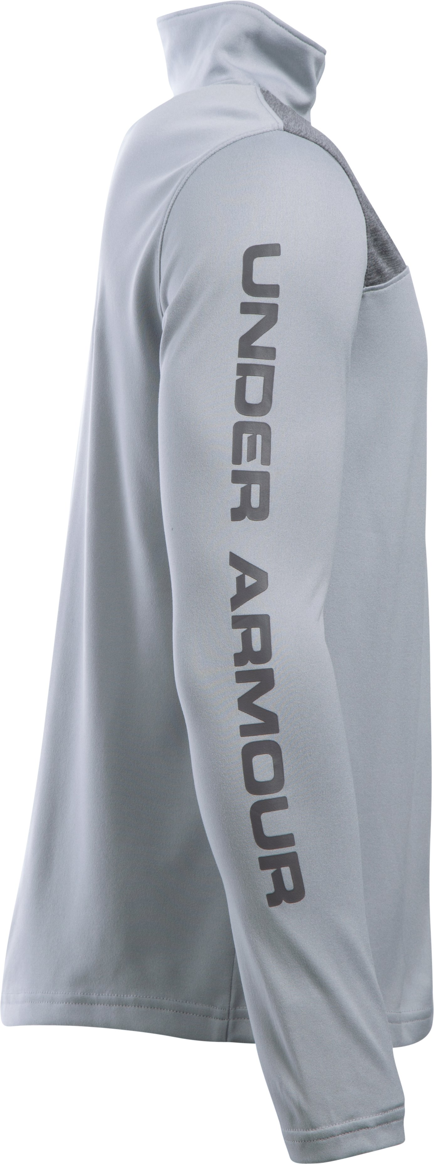 Boys' UA Tech™ ¼ Zip, OVERCAST GRAY, undefined
