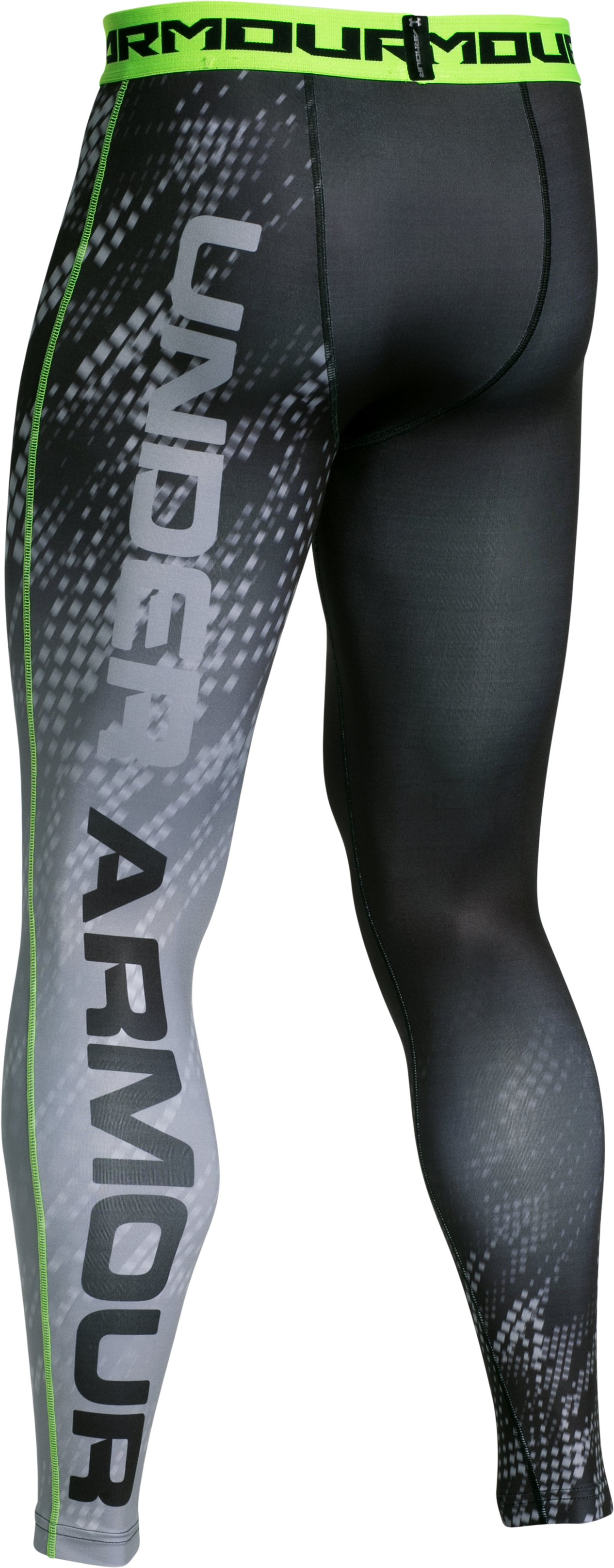 Men's UA HeatGear® Armour Graphic Compression Leggings, Black , undefined