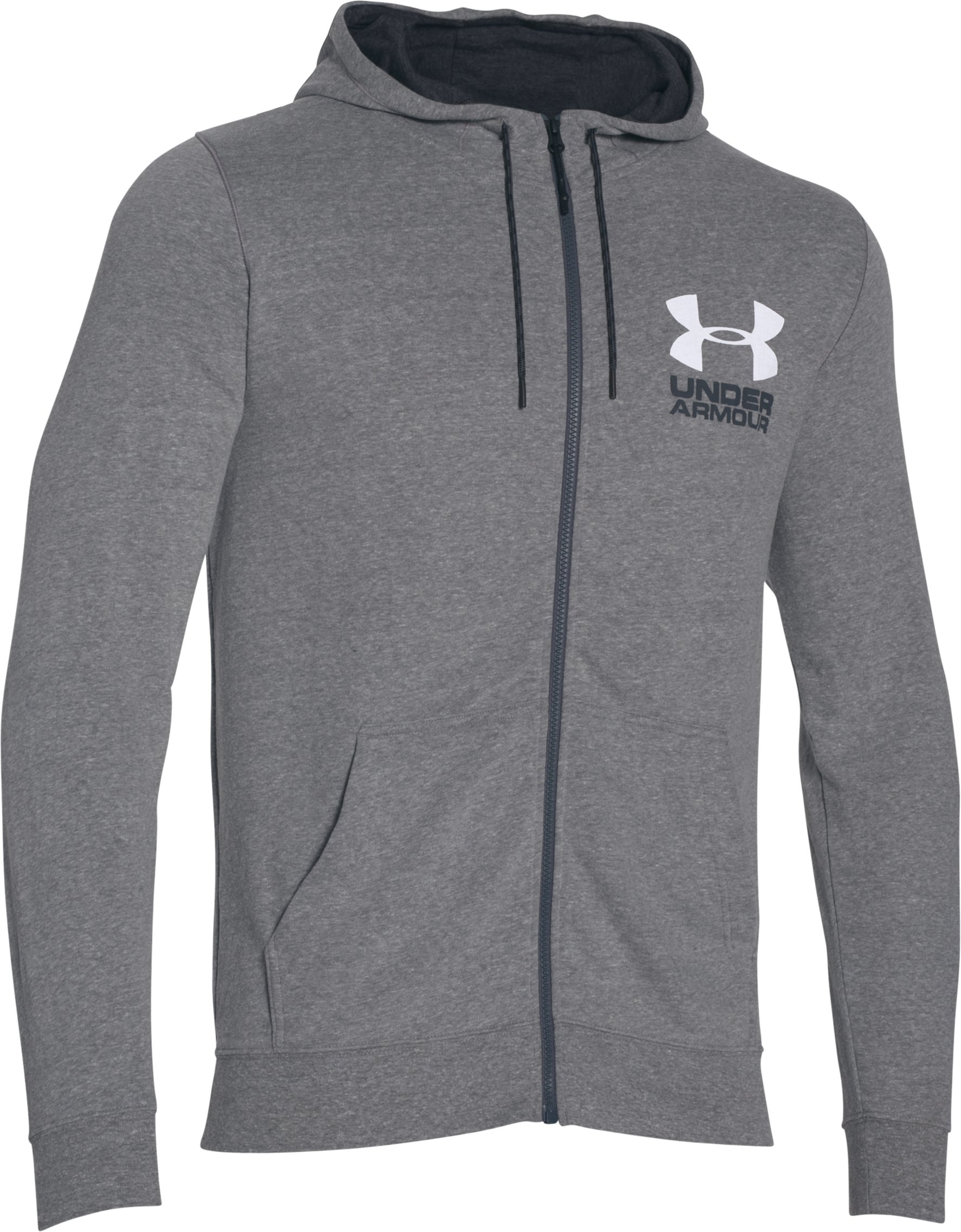 Men's UA Sportstyle Fleece Hoodie, GREYHOUND HEATHER