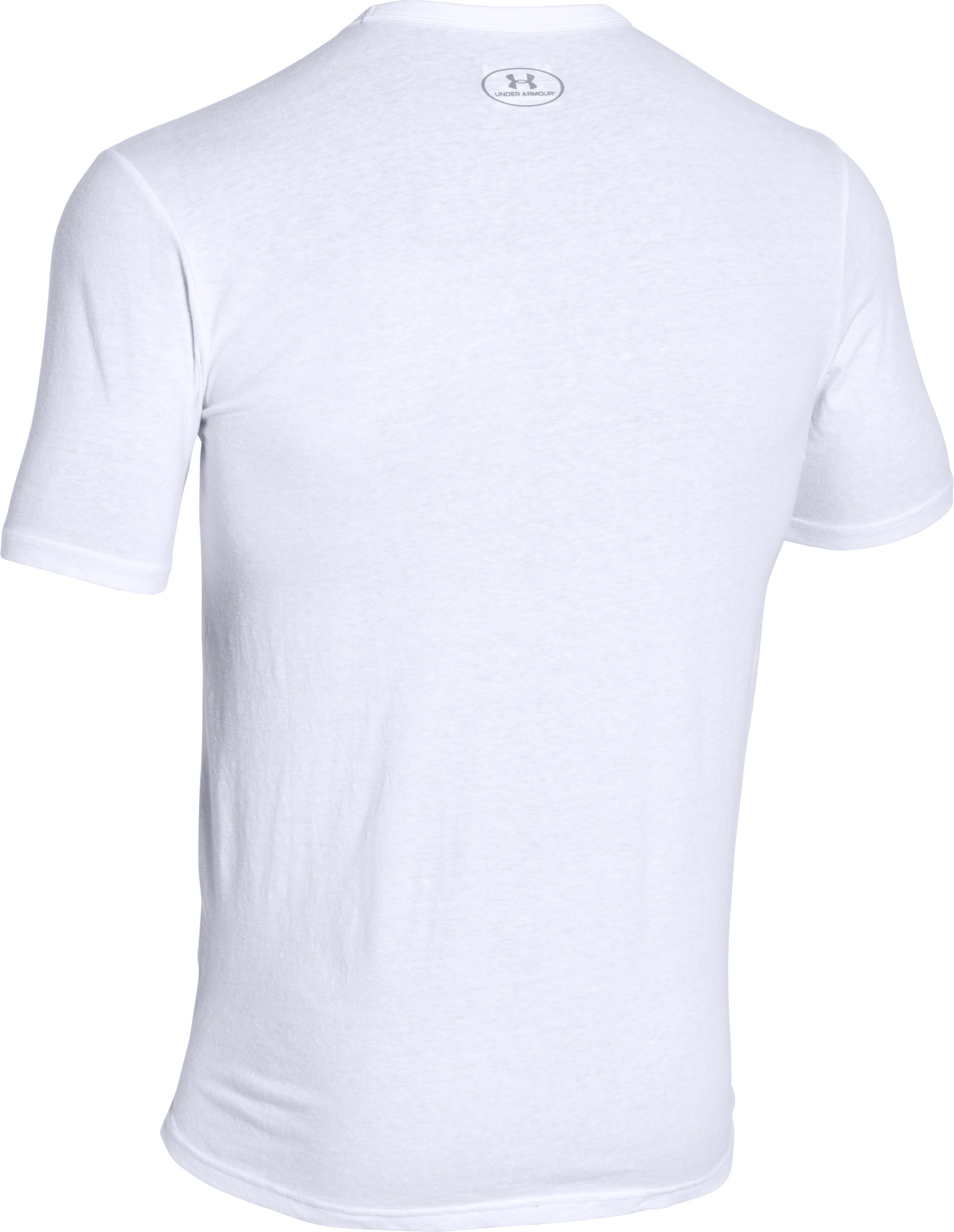 Men's UA Tri-Blend Pocket T-Shirt, White