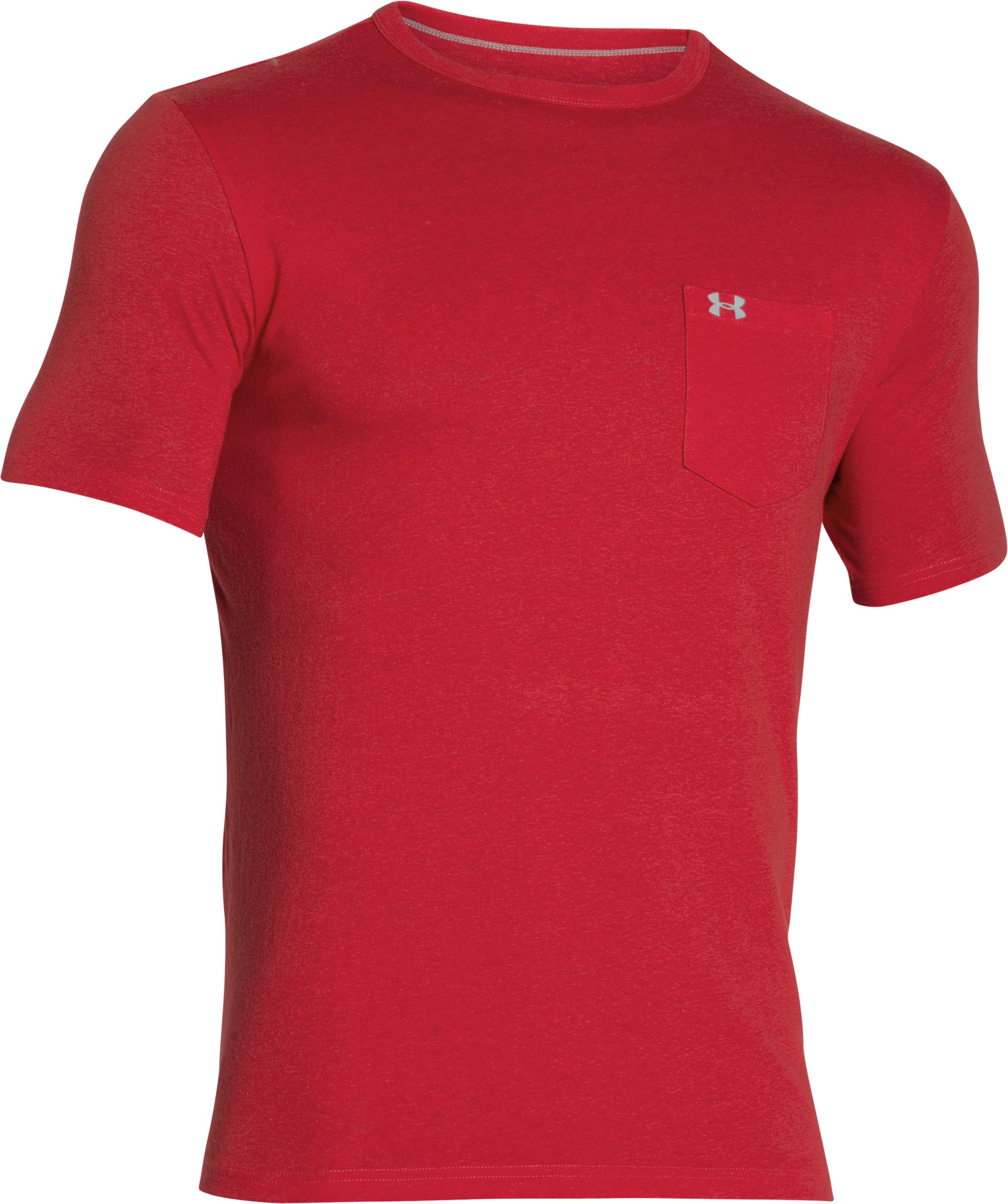 Men's UA Tri-Blend Pocket T-Shirt, Red