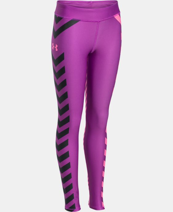 Girls' UA ColdGear® Zig Zag Legging LIMITED TIME OFFER + FREE U.S. SHIPPING  $48.74