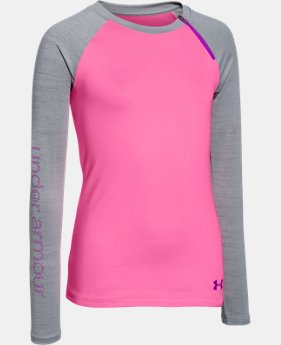 Girls' UA ColdGear® Raglan Crew  2 Colors $44.99