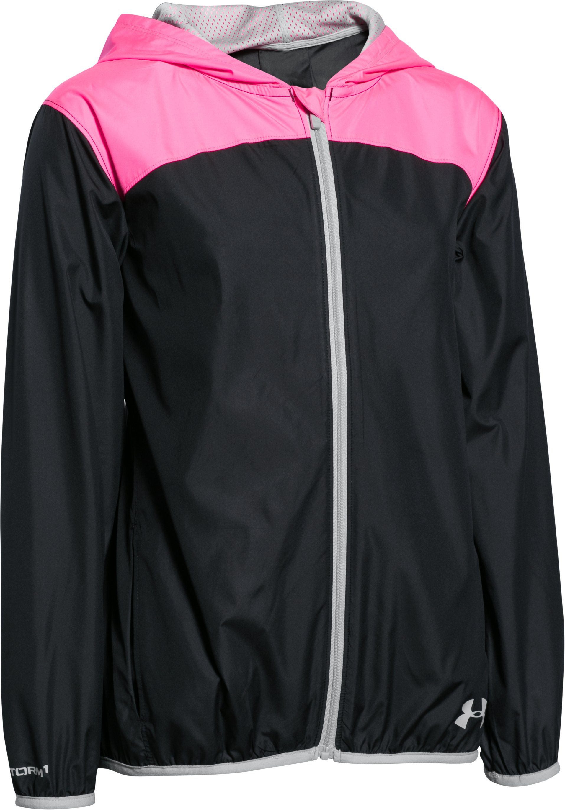 Girls' UA Fast Lane Packable Jacket, Black