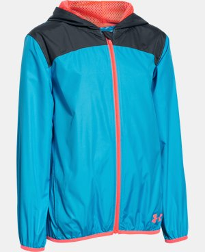 Girls' UA Fast Lane Packable Jacket LIMITED TIME: FREE U.S. SHIPPING 1 Color $33.74