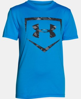 Boys' UA Baseball Big Logo T-Shirt  1 Color $17.99
