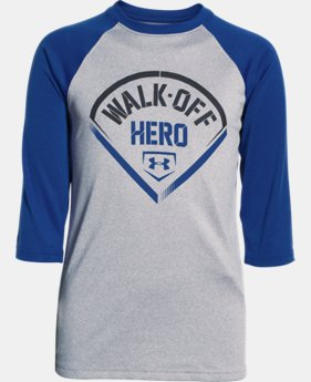 Boys' UA Walk Off Hero ¾ Sleeve T-Shirt   $18.99