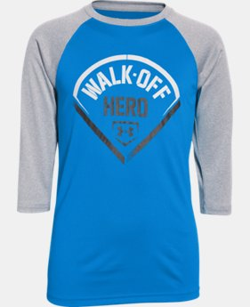 Boys' UA Walk Off Hero ¾ Sleeve T-Shirt  1 Color $14.24 to $18.99