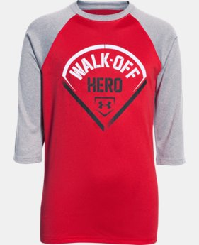 Boys' UA Walk Off Hero ¾ Sleeve T-Shirt