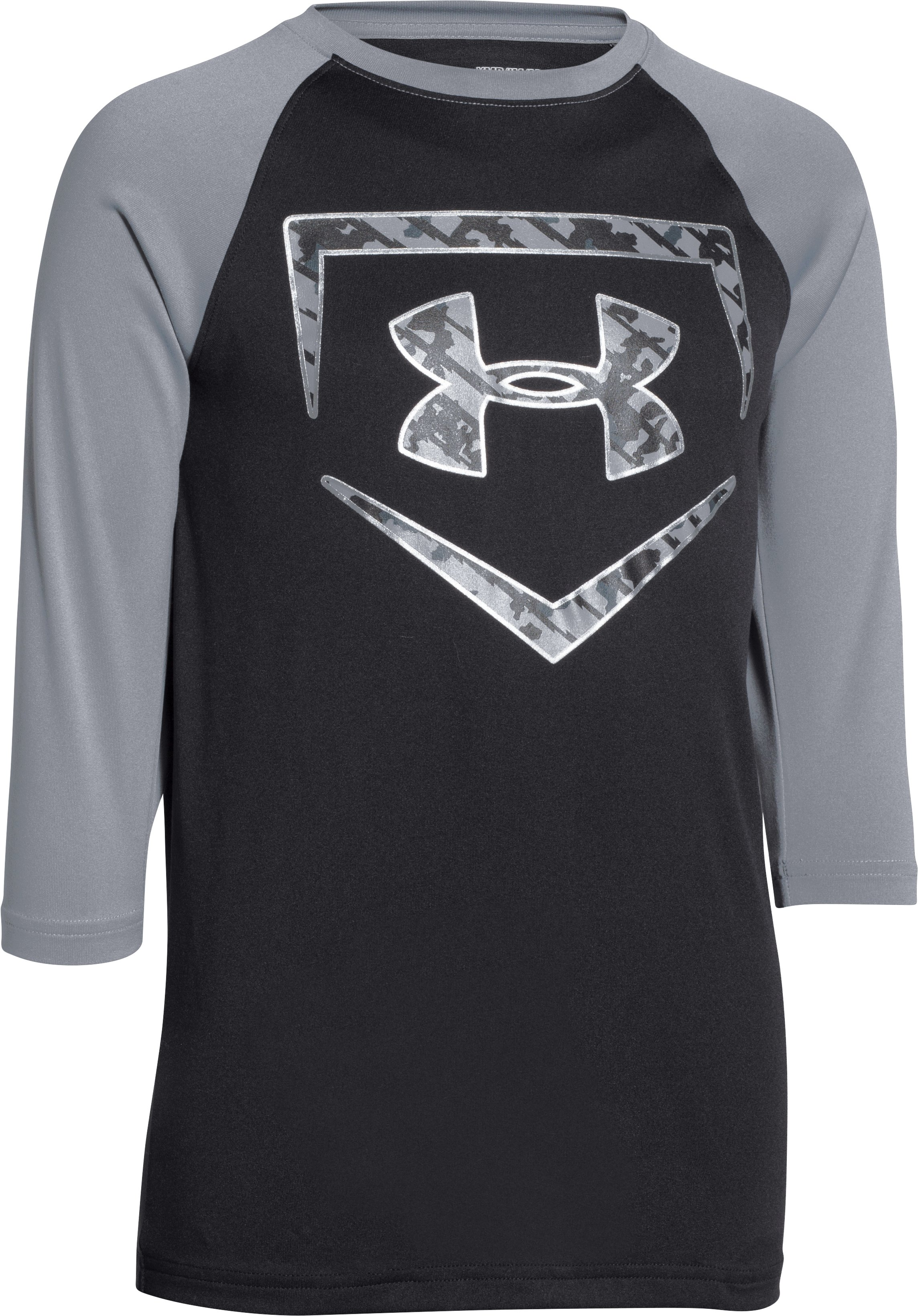 Boys' UA 9 Strong ¾ Sleeve T-Shirt, Black