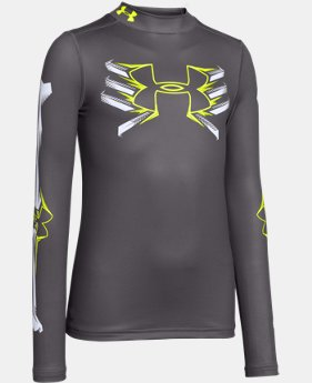 Boys' UA Bone Cold ColdGear® Mock Long Sleeve  1 Color $32.99