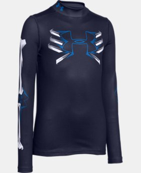 Boys' UA Bone Cold ColdGear® Mock Long Sleeve   $32.99