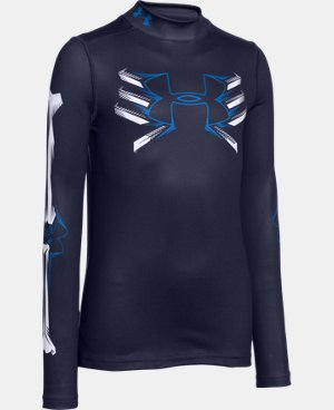 Boys' UA Bone Cold ColdGear® Mock Long Sleeve  1 Color $41.99