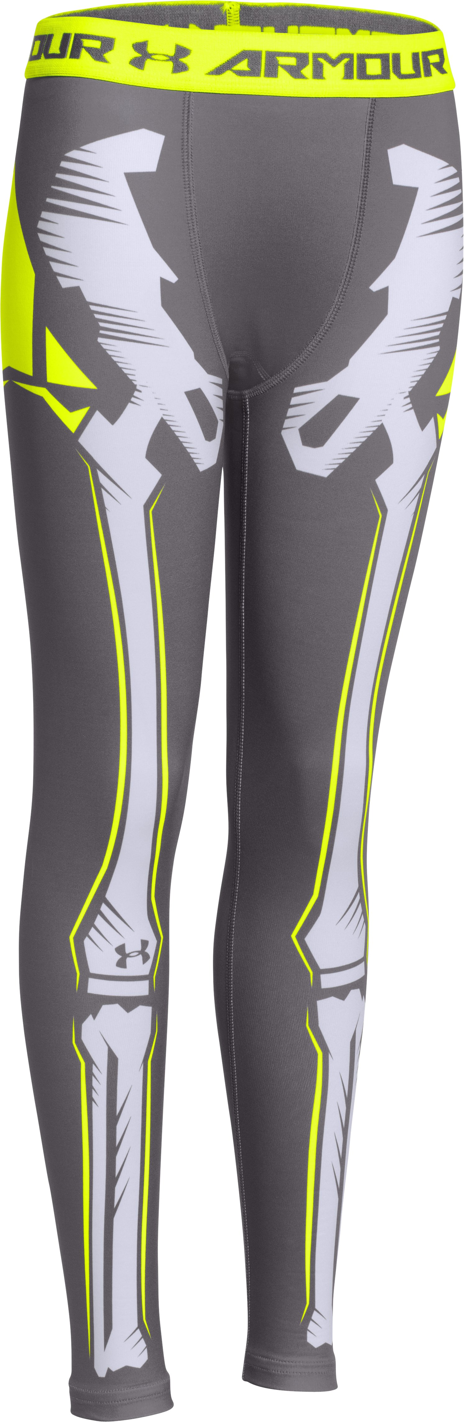 Boys' UA Bone Cold ColdGear® Legging, Graphite