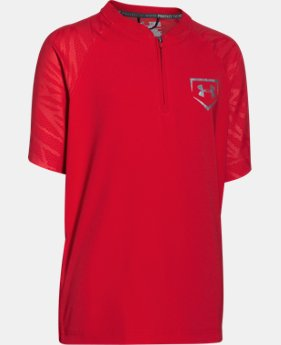 New to Outlet Boys' UA 9 Strong Short Sleeve Cage Jacket  1 Color $22.49 to $28.49
