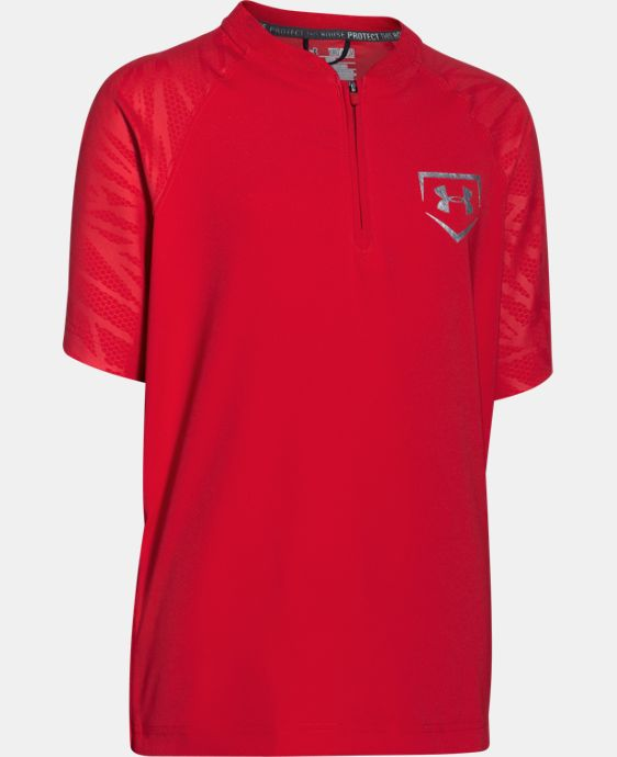 New to Outlet Boys' UA 9 Strong Short Sleeve Cage Jacket   $22.49 to $37.99