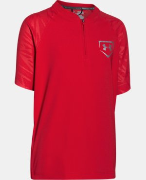 New to Outlet Boys' UA 9 Strong Short Sleeve Cage Jacket   $22.49 to $28.49
