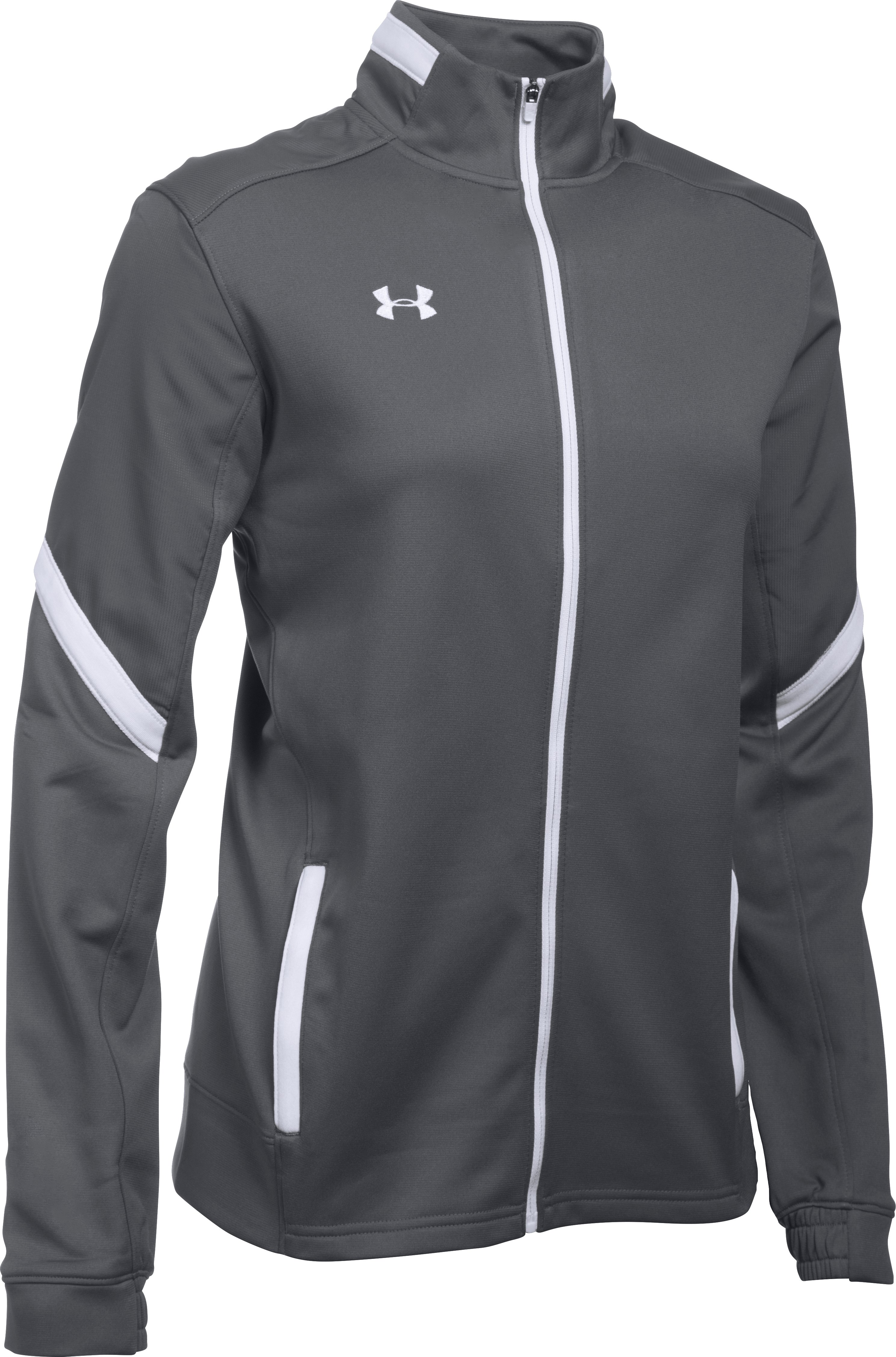 Women's UA Qualifier Knit Warm-Up Jacket, Graphite