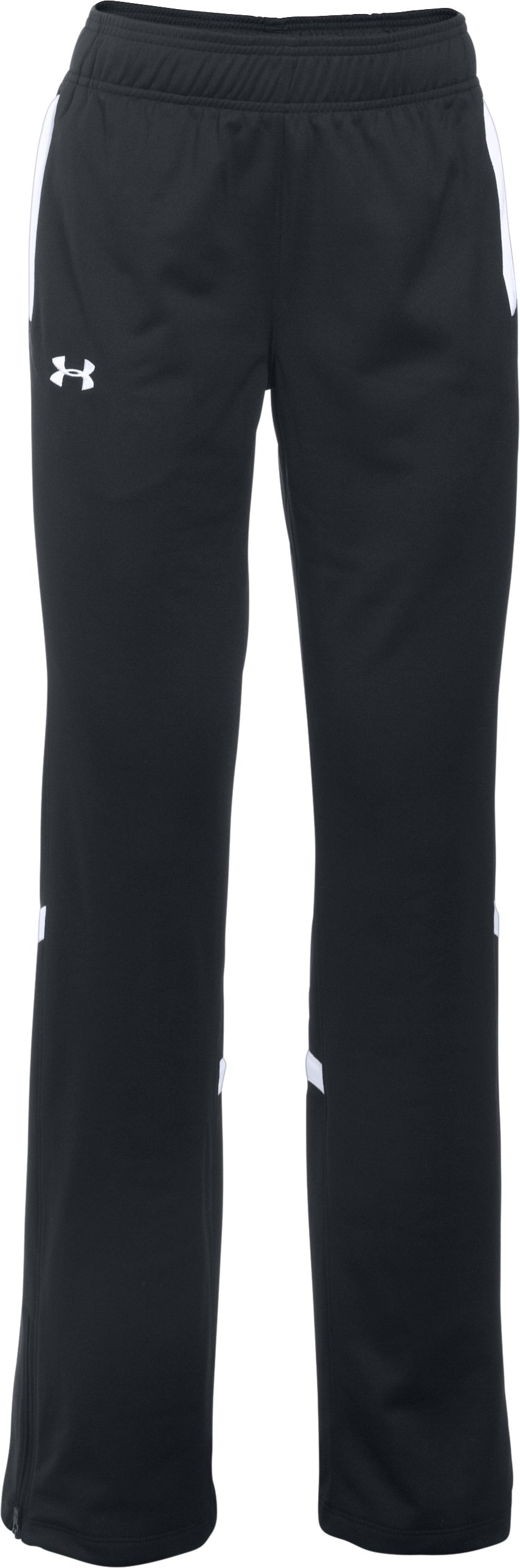 Women's UA Qualifier Knit Warm-Up Pants, Black , undefined