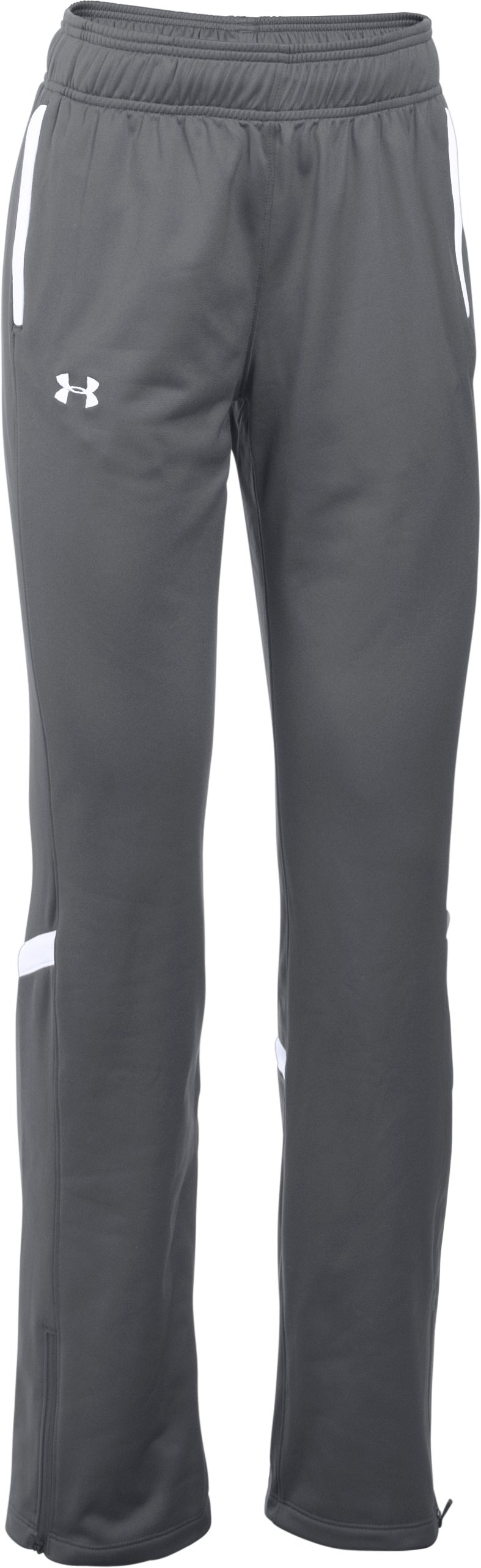 Women's UA Qualifier Knit Warm-Up Pants, Graphite, undefined