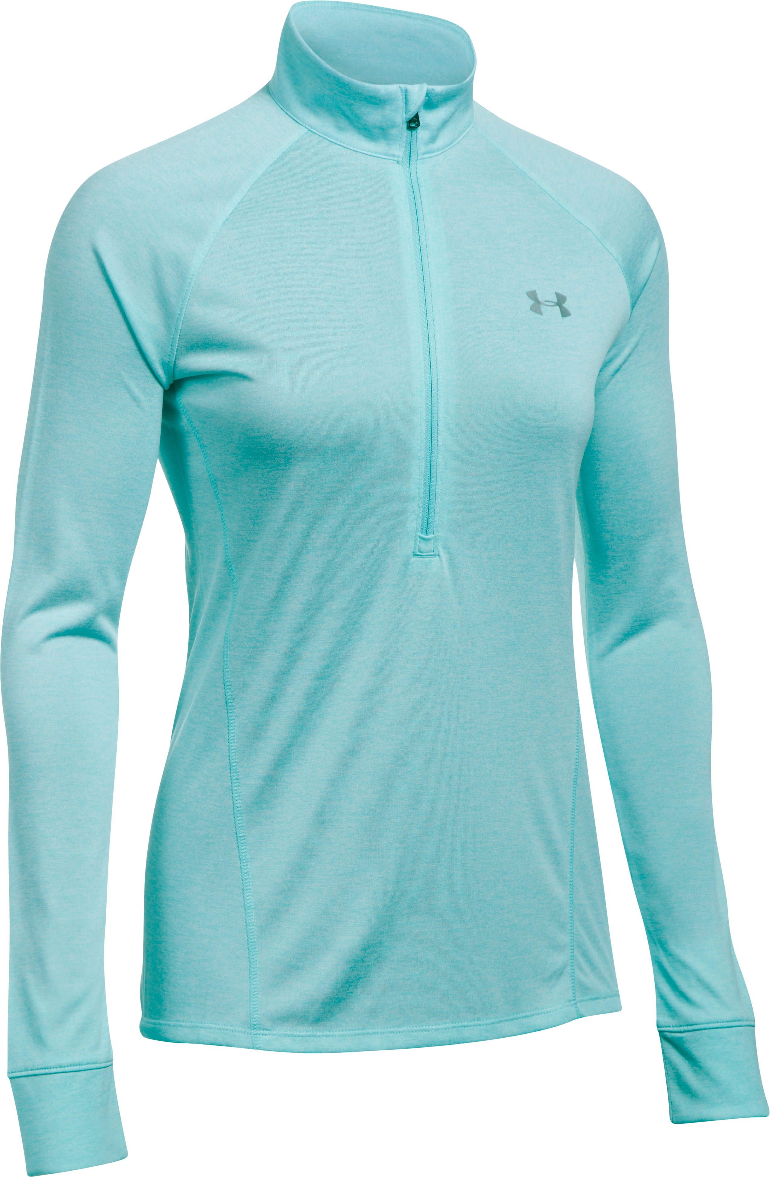 Women's UA Tech™ 1/2 Zip Twist, BLUE INFINITY, undefined