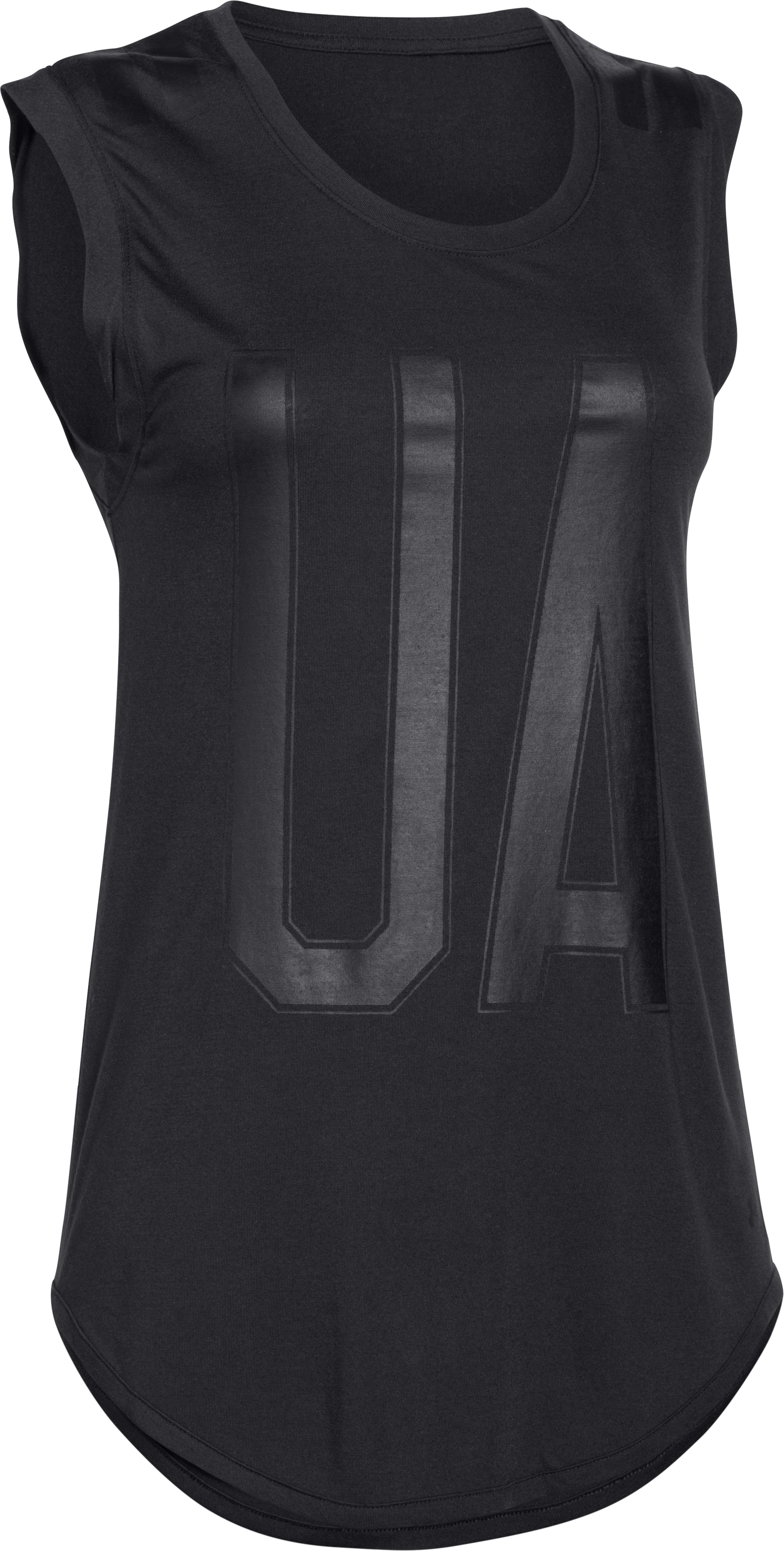 Women's UA Big Stripe T-Shirt, Black