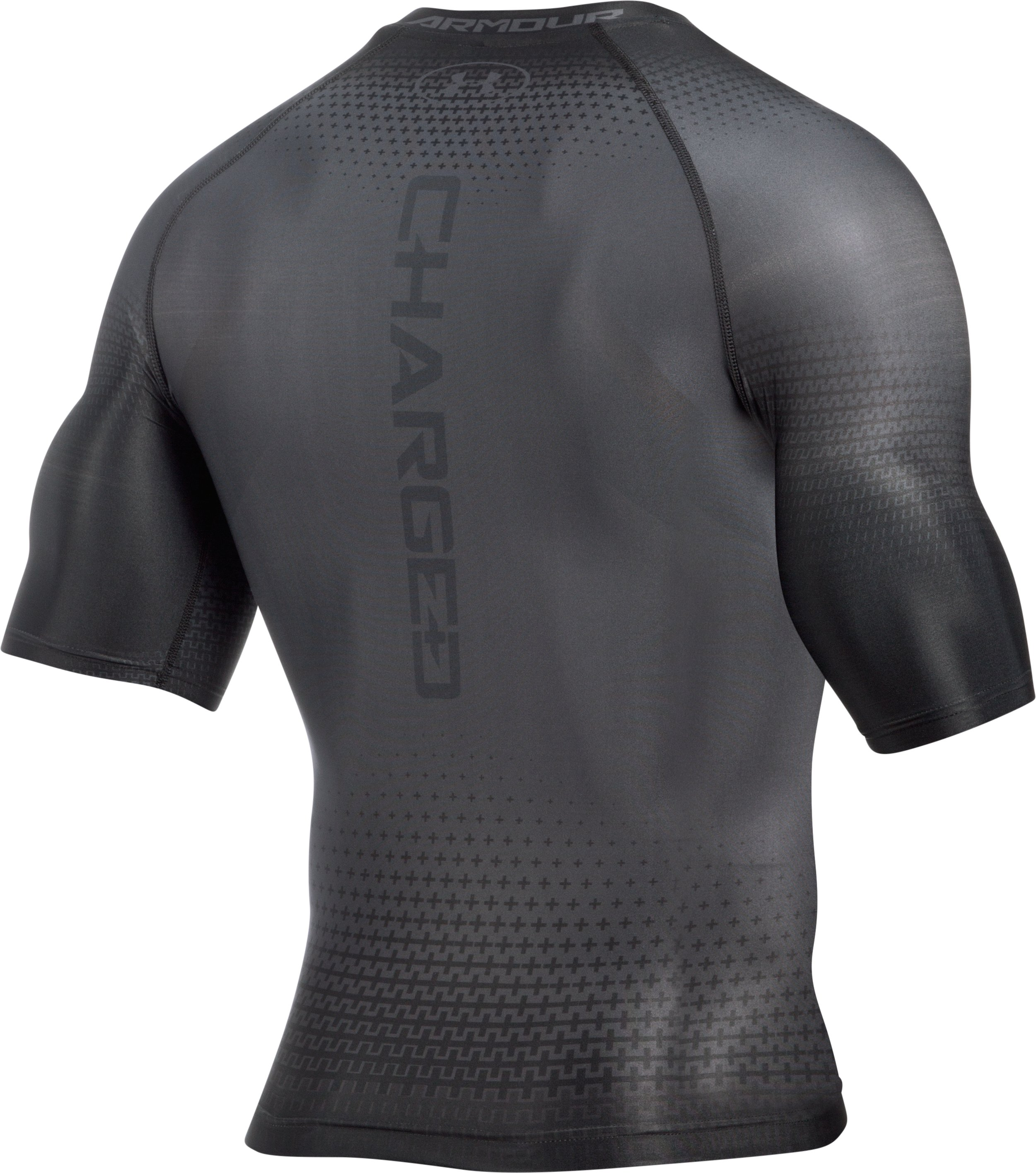 Men's UA Charged Compression Short Sleeve Shirt, Graphite,