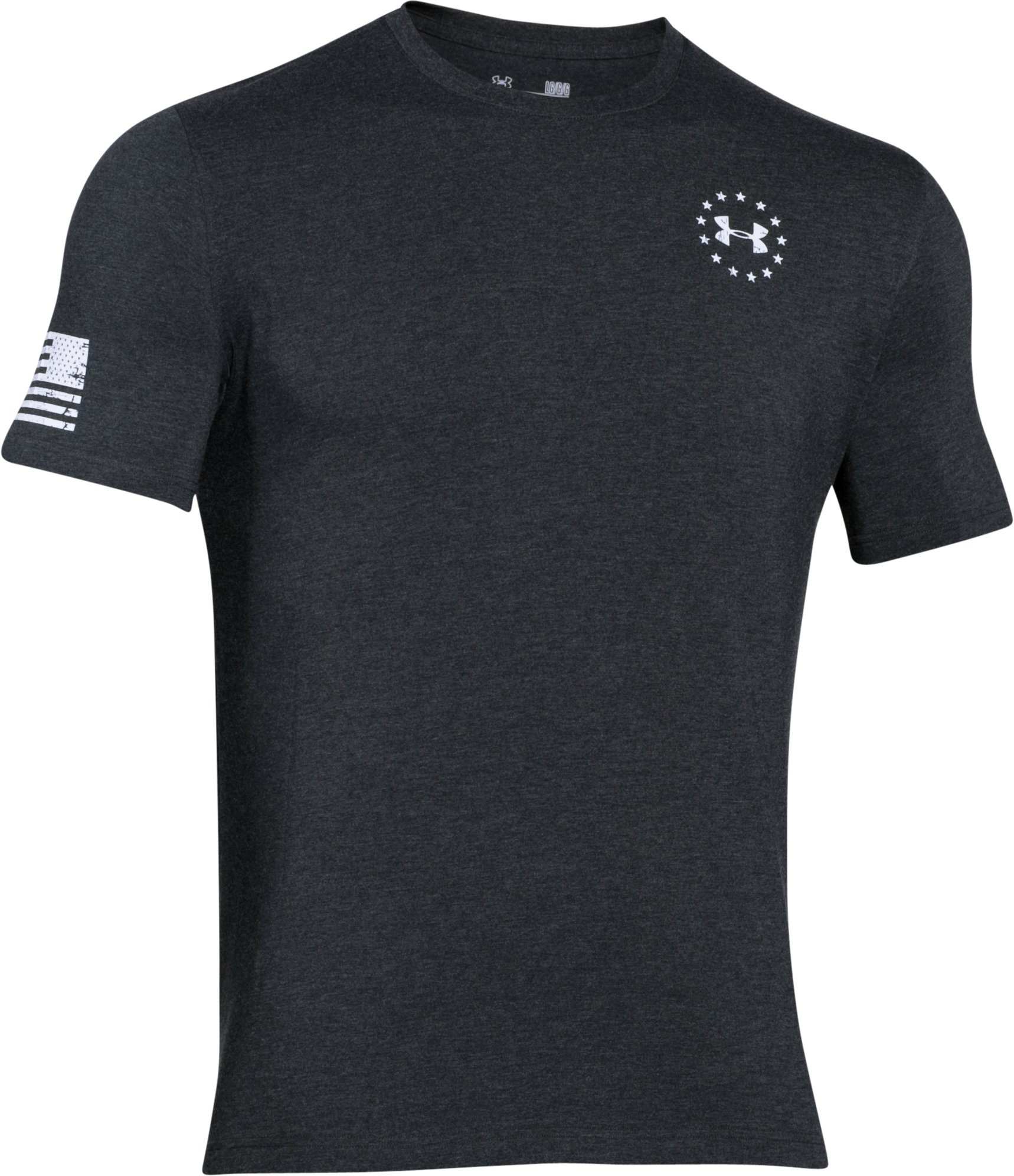 Men's WWP Freedom Flag T-Shirt, Black , undefined