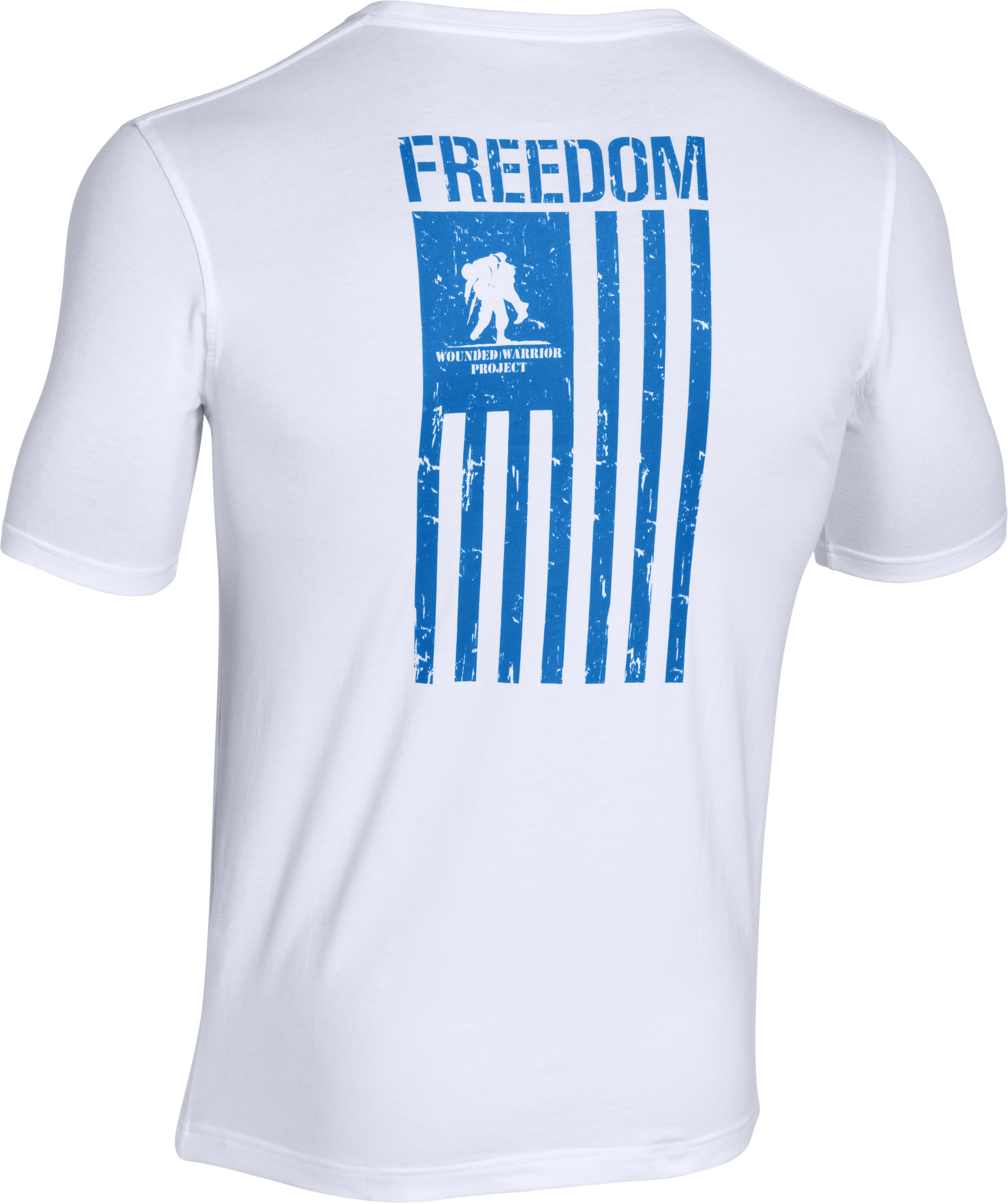 Men's WWP Freedom Flag T-Shirt, White, undefined