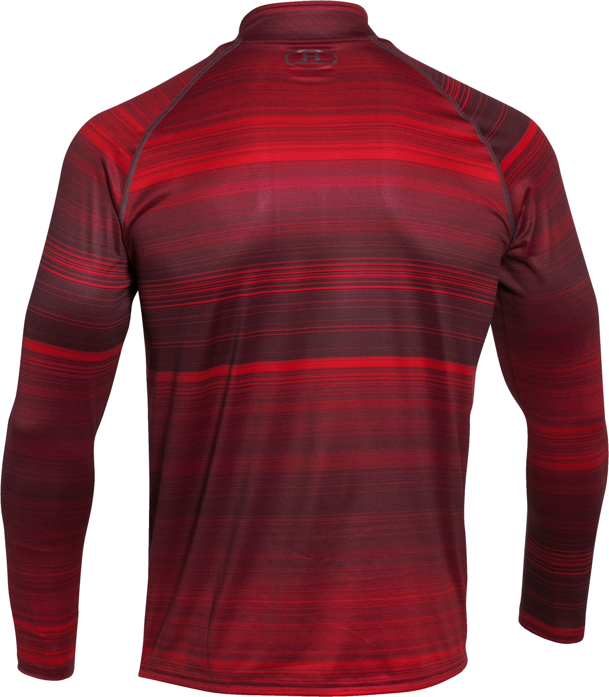 Men's UA Tech™ Printed ¼ Zip, Red