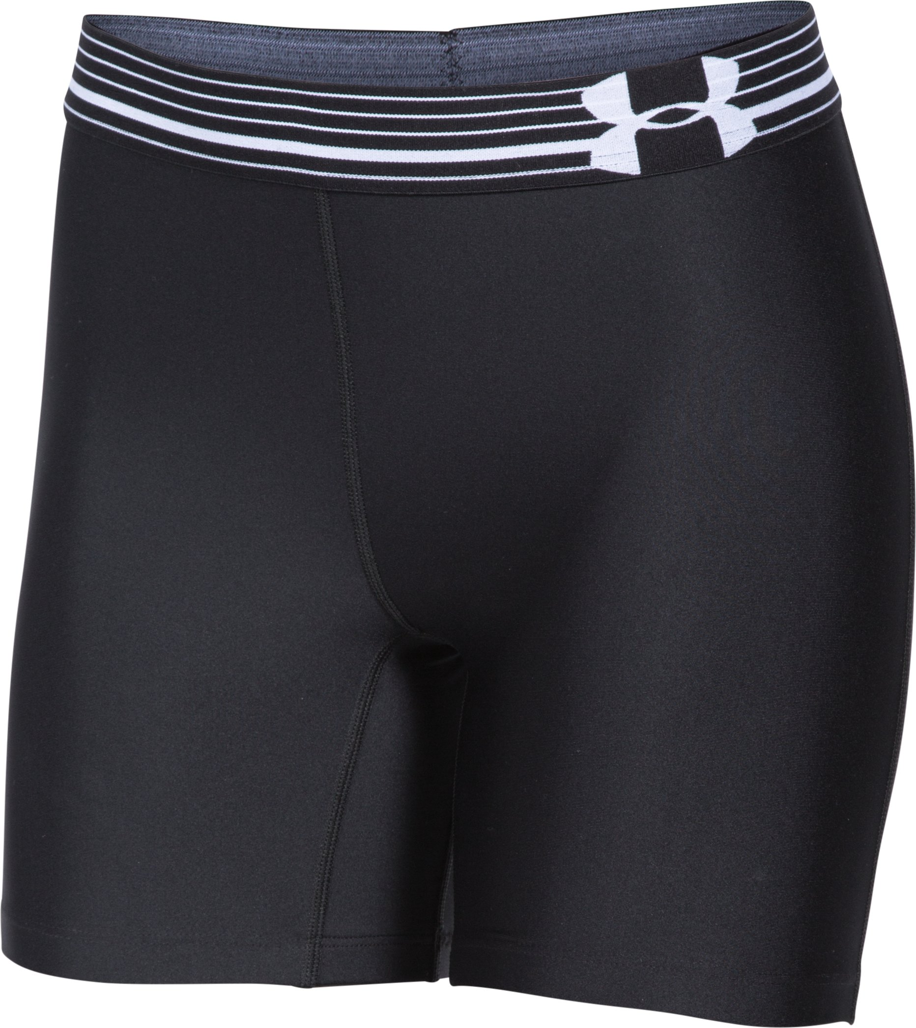 Women's UA Armour Mid Short, Black , undefined
