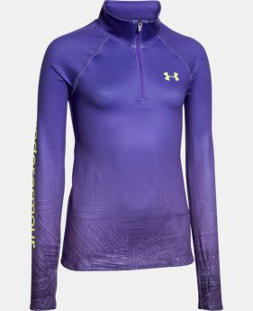 Girls' UA ColdGear® Cozy Sublimated 1/2