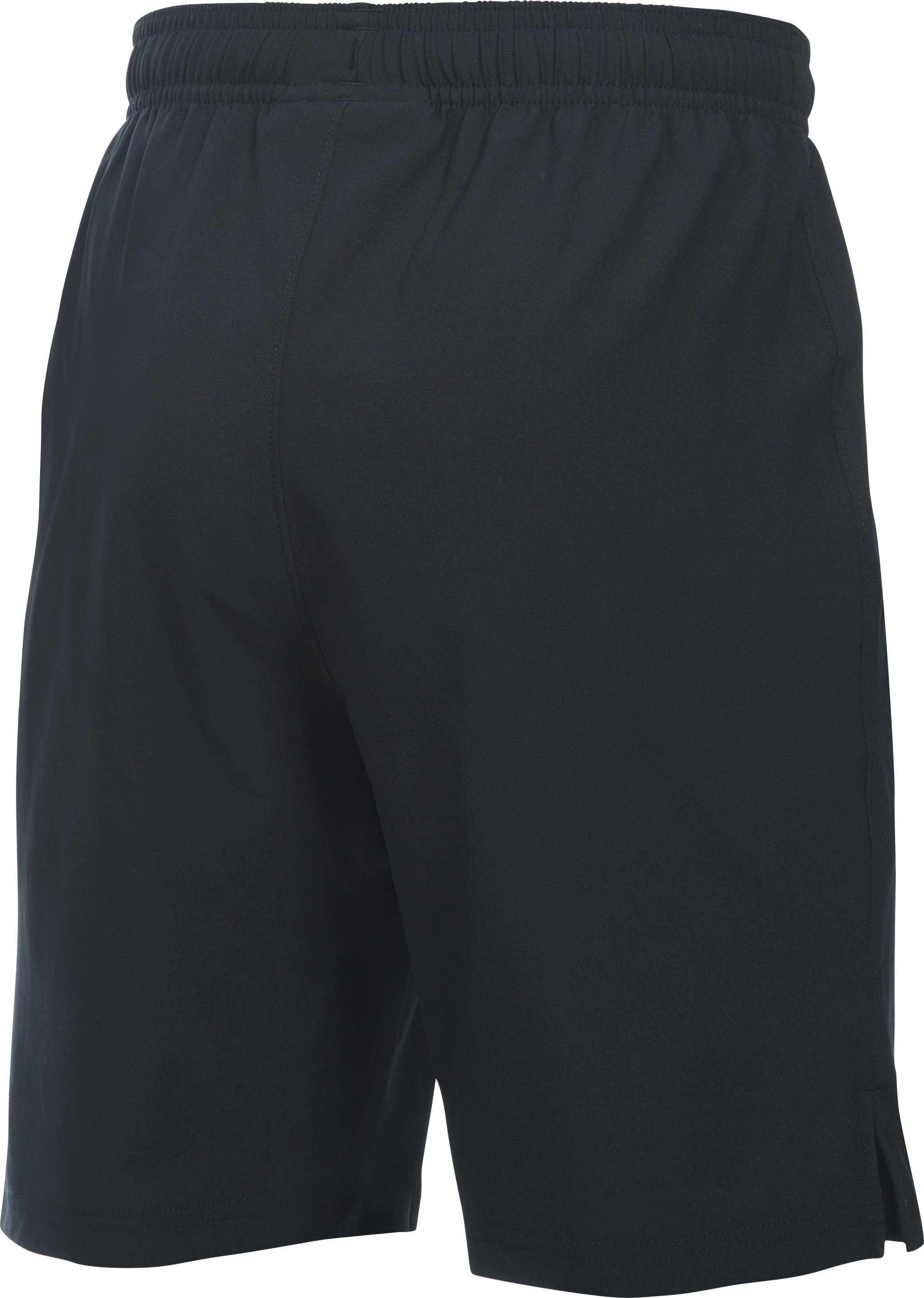 Boys' UA Hustle Shorts, Black ,