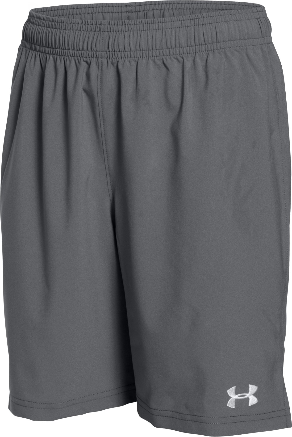 Boys' UA Hustle Shorts, Graphite, undefined