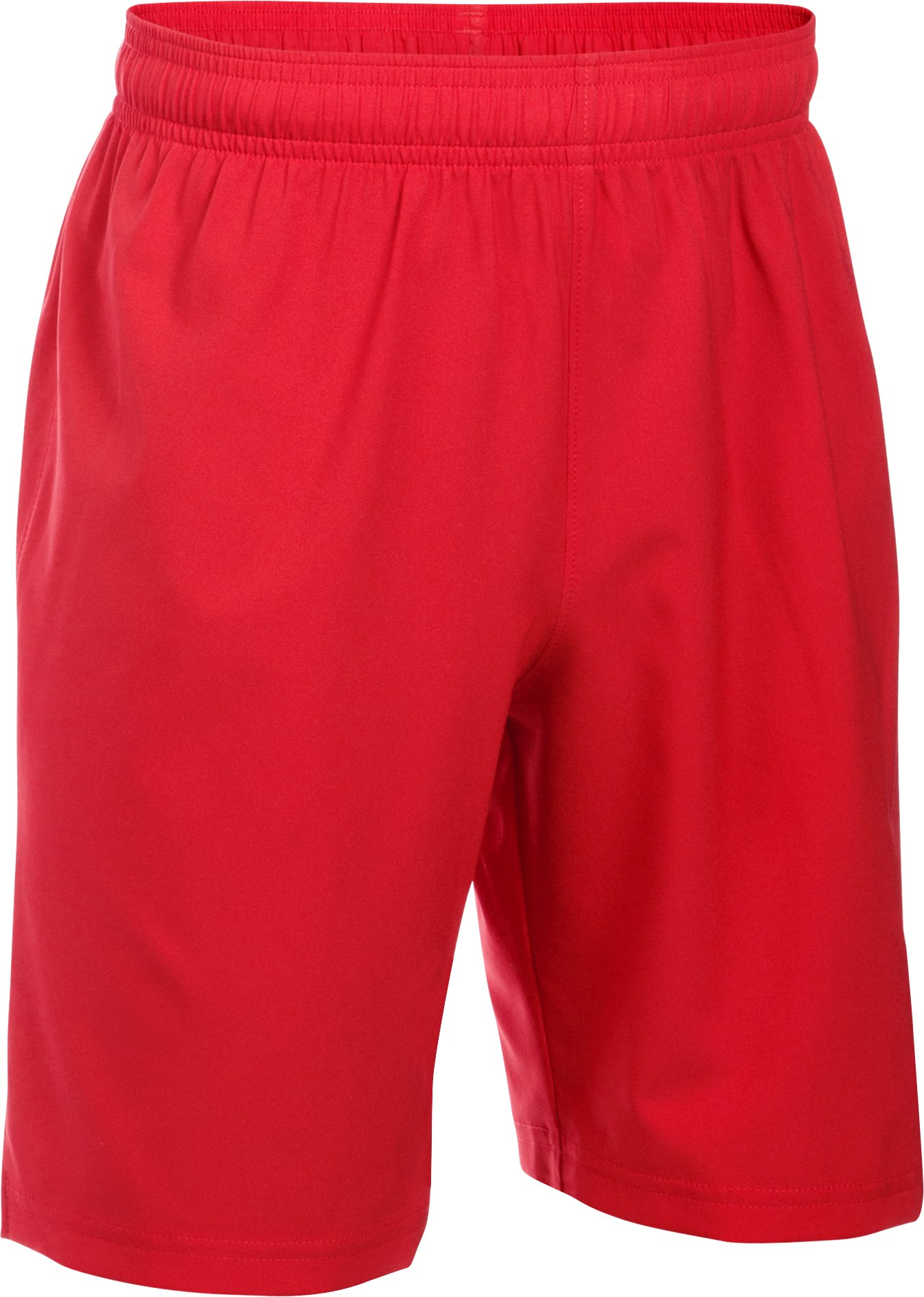 Boys' UA Hustle Shorts, Red, zoomed image