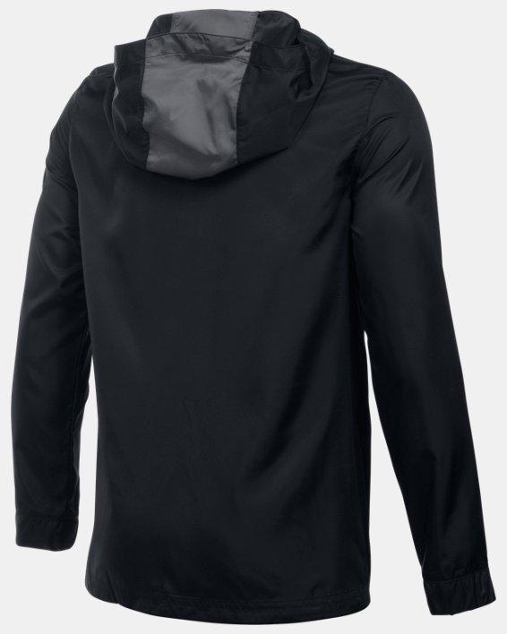 Boys' UA Futbolista Shell Jacket, Black, pdpMainDesktop image number 1