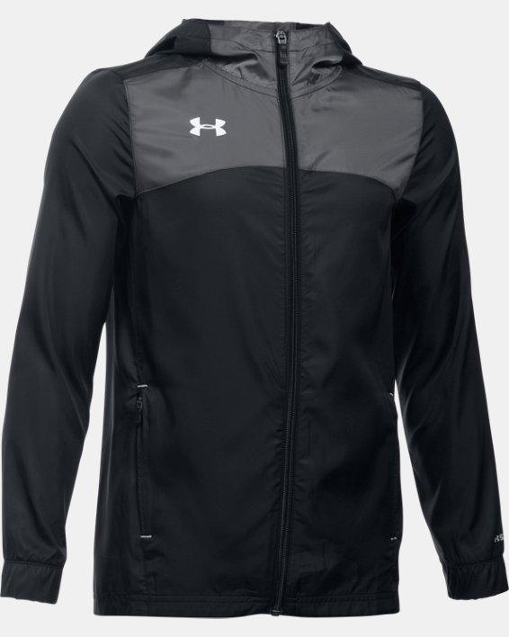 Boys' UA Futbolista Shell Jacket, Black, pdpMainDesktop image number 0