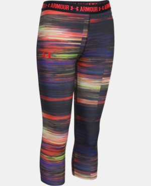 Girls' UA HeatGear® Armour Printed Capri LIMITED TIME: FREE SHIPPING 1 Color $29.99 to $39.99