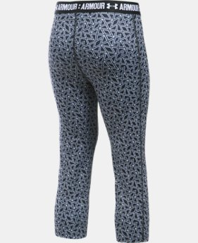 Best Seller Girls' UA HeatGear® Armour Printed Capri  3 Colors $34.99