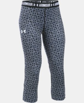 Girls' UA HeatGear® Armour Printed Capri