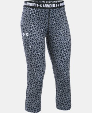 New to Outlet Girls' UA HeatGear® Armour Printed Capri  3 Colors $15.74 to $26.99
