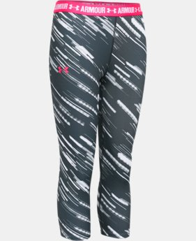 Girls' UA HeatGear® Armour Printed Capri  6 Colors $20.99 to $26.99