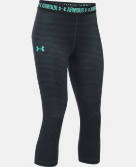 New to Outlet Girls' UA HeatGear® Armour Printed Capri LIMITED TIME: UP TO 30% OFF 4 Colors $15.74 to $26.99