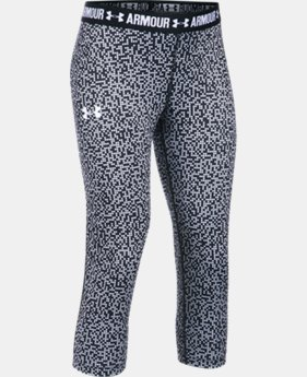 Girls' UA HeatGear® Armour Printed Capris  2 Colors $22.49