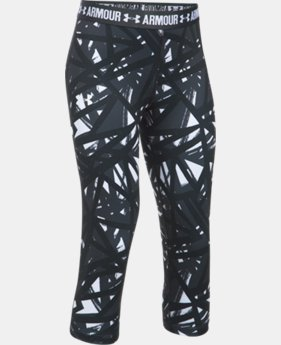 Girls' UA HeatGear® Armour Printed Capris  2 Colors $20.99 to $26.24