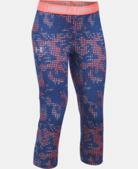 Girls' UA HeatGear® Armour Printed Capris  1 Color $26.99