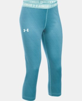 Girls' UA HeatGear® Armour Printed Capri LIMITED TIME: FREE SHIPPING 1 Color $22.49 to $29.99