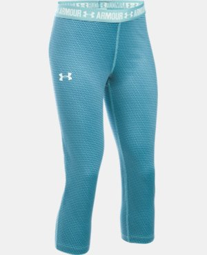 Girls' UA HeatGear® Armour Printed Capri  10 Colors $39.99